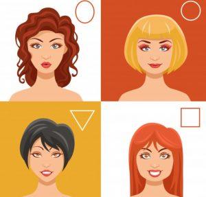 σχήματα γυναικείων προσώπων και γυαλιά