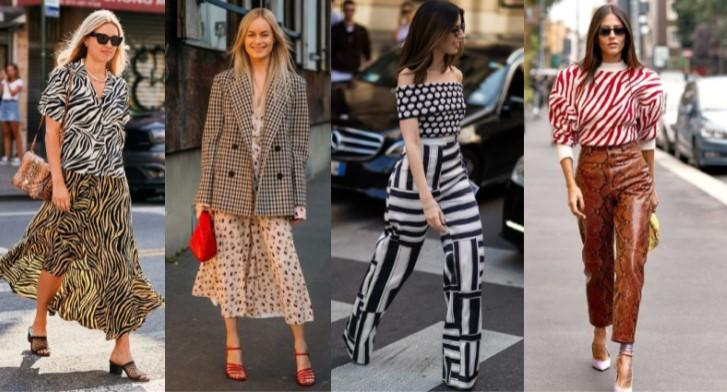 συνδυασμοί με μοτίβα στα γυναικεία ρούχα