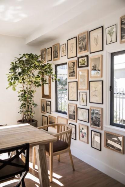 τραπεζαρία gallery wall tips διακόσμησης τραπεζαρία