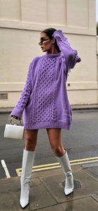 χειμωνιάτικο ντύσιμο με φόρεμα