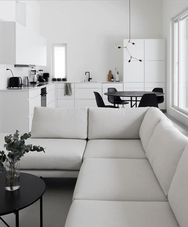 ασπρόμαυρο σαλόνι