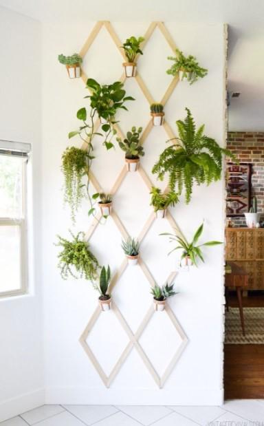 φυτά χιαστί τοίχο διακοσμητικά τοίχο