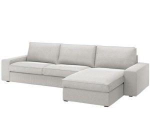 γκρι γωνιακός καναπές IKEA