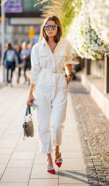 λευκή casual ολόδωμη φόρμα χειμωνιάτικο λευκό outfit