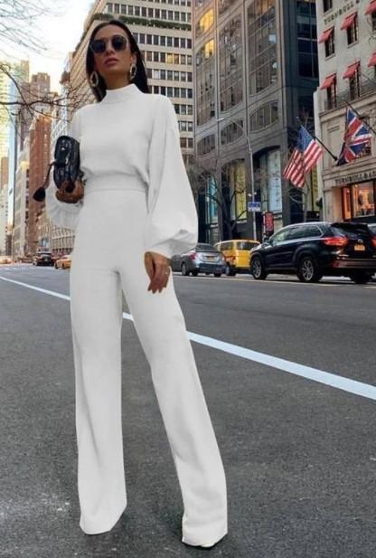 πλεκτή ολόσωμη φόρμα άσπρη