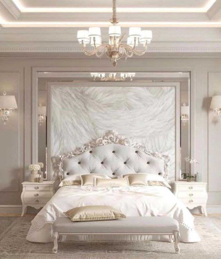 λευκό μπεζ υπνοδωμάτιο