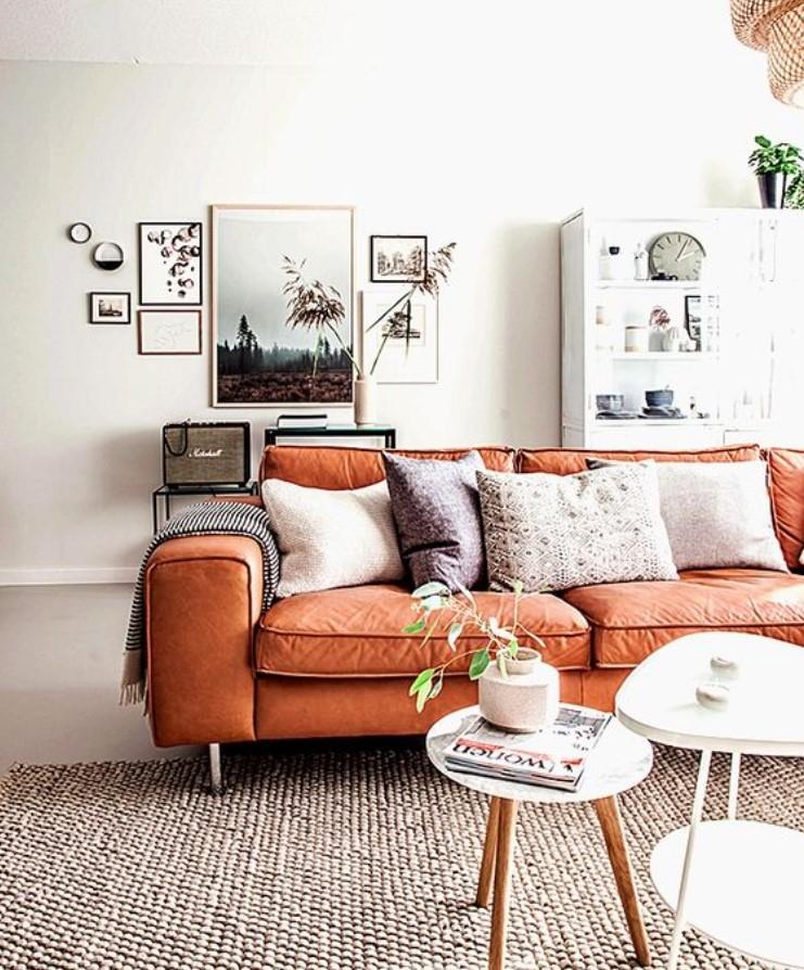 λευκό πορτοκαλί σαλόνι