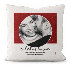 μαξιλάρι με φωτογραφία από ζευγάρι
