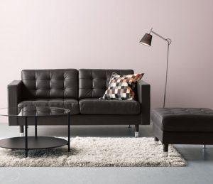 μαύρος διθέσιος καναπές