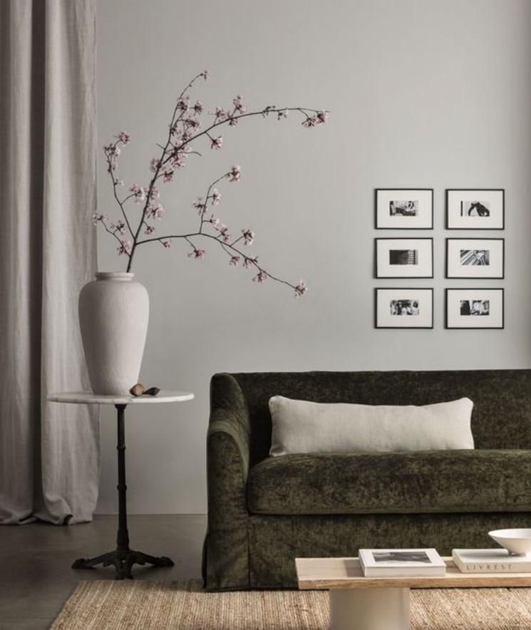 μοντέρνα χρώματα για το σαλόνι