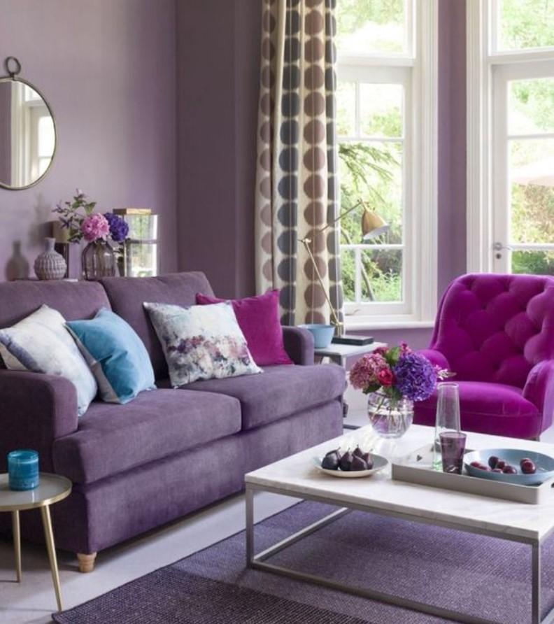 μοβ σαλόνι