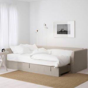 μπεζ καναπές κρεβάτι