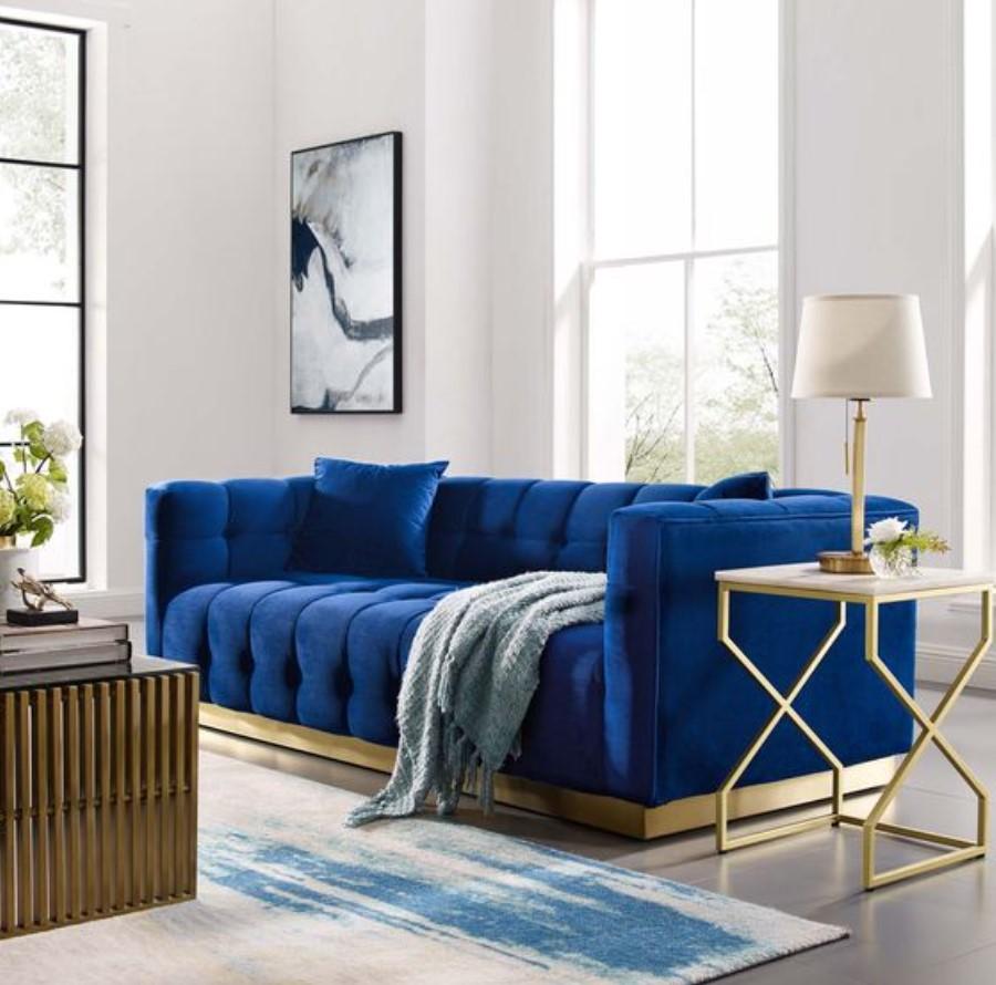 μπλε λευκό σαλόνι