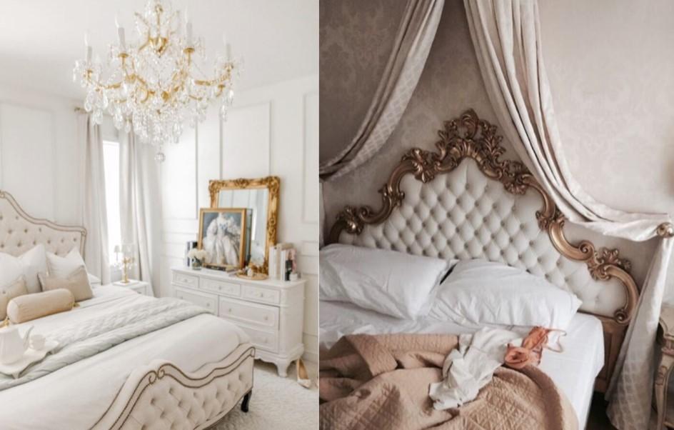 νεοκλασσικό στυλ διακόσμησης στο υπνοδωμάτιο