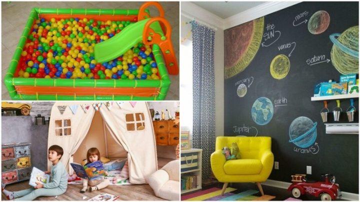 6 Μοναδικές λύσεις για παιδότοπο στο σπίτι!