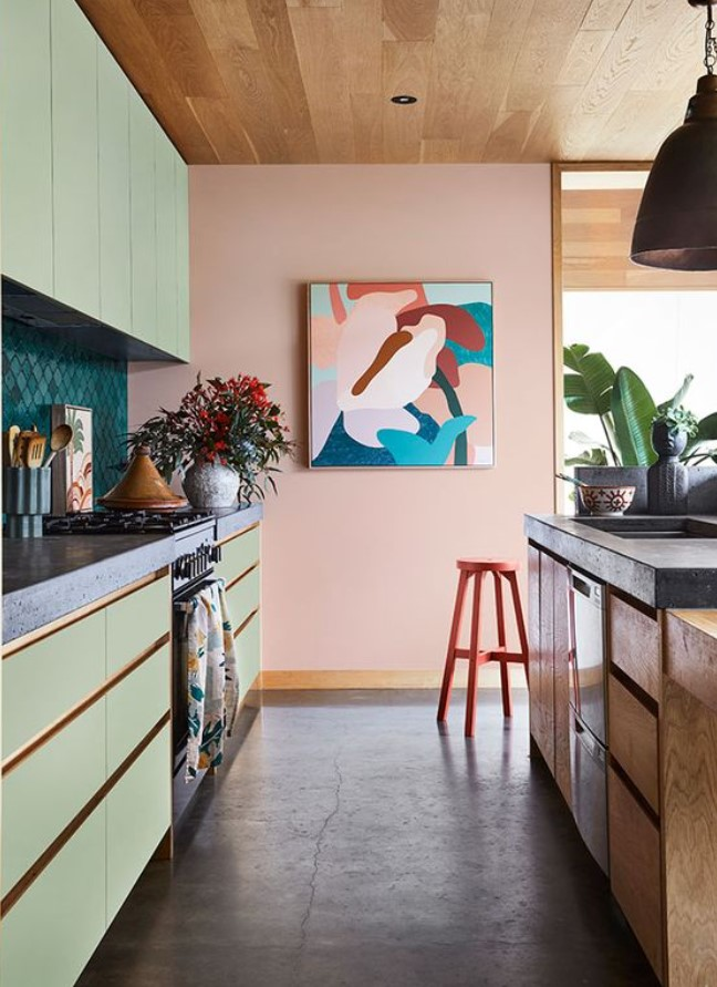 παστέλ χρώματα στη κουζίνα