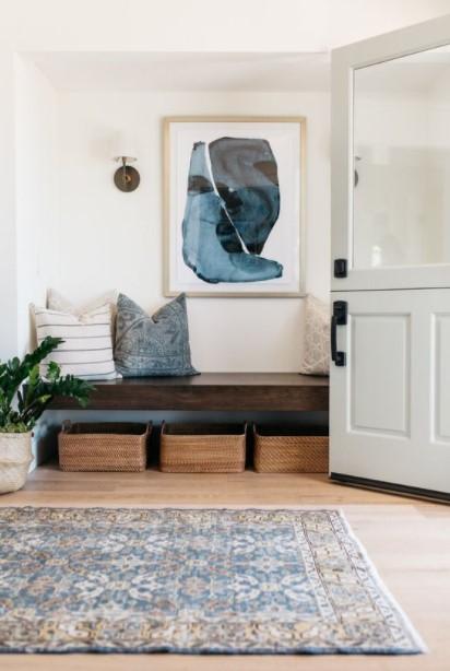 πίνακας τοίχο παγκάκι μαξιλάρια
