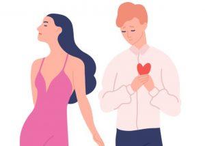 γυναίκα σε ψεύτικη σχέση για να ξεπεράσει χωρισμό