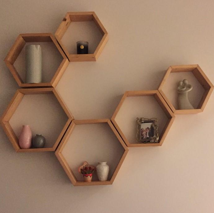 ραφάκια με σχήμα εξαγώνου