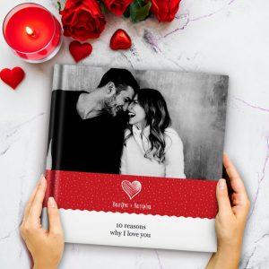 ρομαντικό άλμπουμ με φωτογραφίες