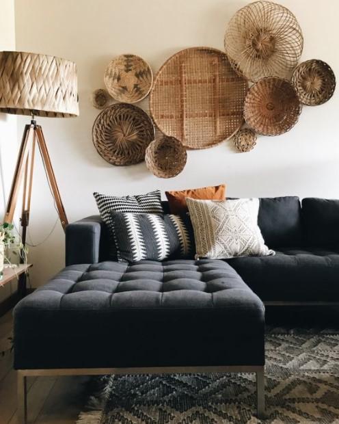 σαλόνι καναπές τοίχο