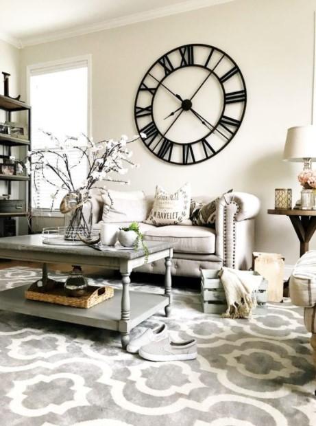 σαλόνι τοίχου ρολόι τοίχου