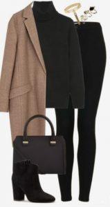 skinny τζιν με παλτο