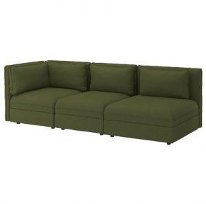 σκούρος πράσινος καναπές