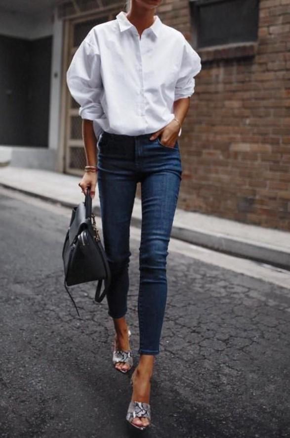 στιλάτο ντύσιμο με πουκάμισο