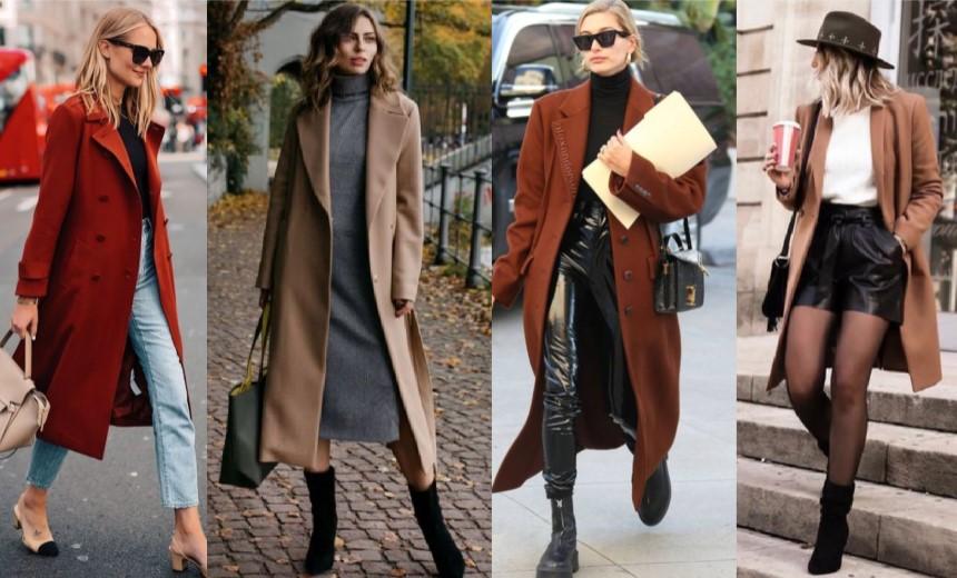 συνδυασμοί ρούχων με γυναικείο παλτό