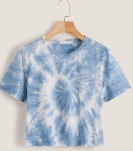 tie dye μπλουζα γαλάζια