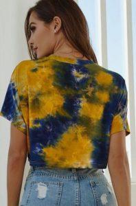 tie dye μπλουζα outfit κιτρινη