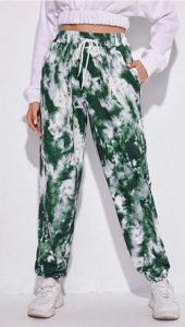 tie dye παντελονι πρασινο