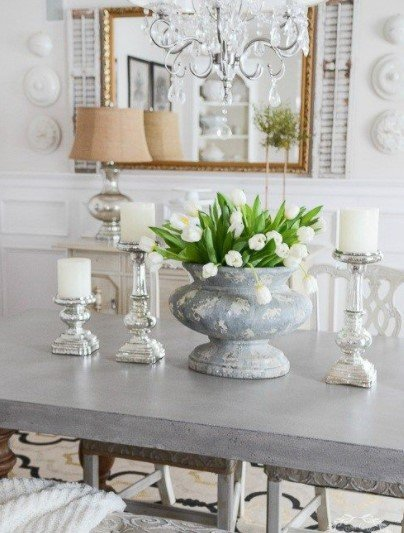 τραπεζαρία βάζο τουλίπες διακόσμηση λουλούδια σαλόνι