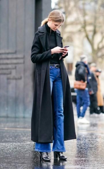 τζιν καμπάνα μακρύ παλτό