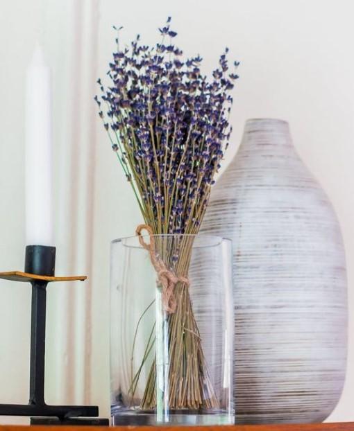 βάζο λεβάντα διακόσμηση λουλούδια σαλόνι