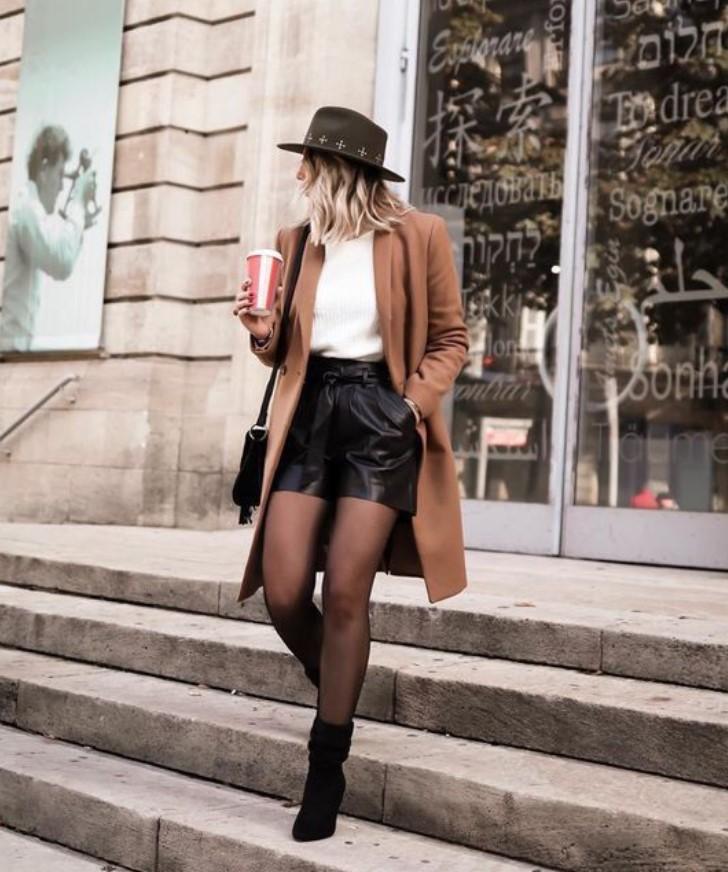 χειμερινό ντύσιμο με σορτσάκι και παλτό