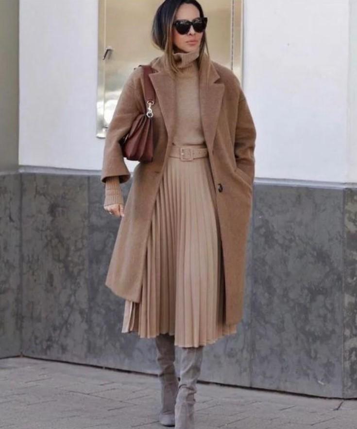 χειμωνιάτικο γυναικείο ντύσιμο με παλτό