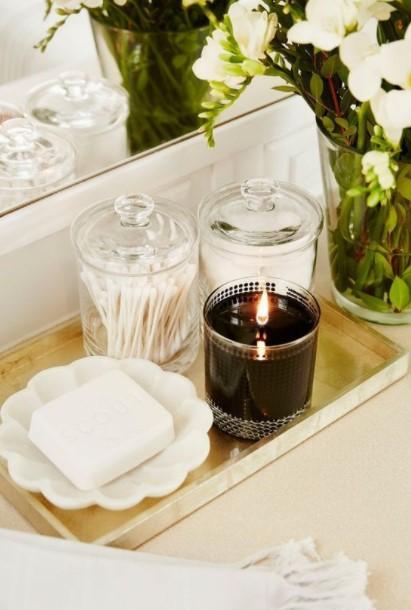 χρυσός δίσκος βαζάκι κερί ανανεώσεις μπάνιο