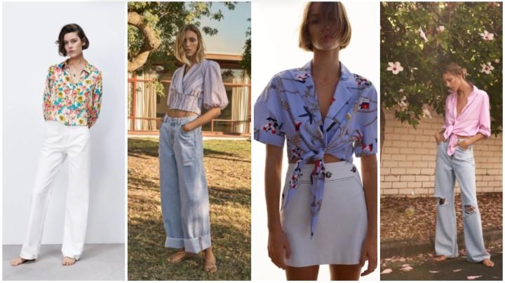 ανοιχτόχρωμα μπλουζάκια καλοκαιρινά ρούχα Zara 2021