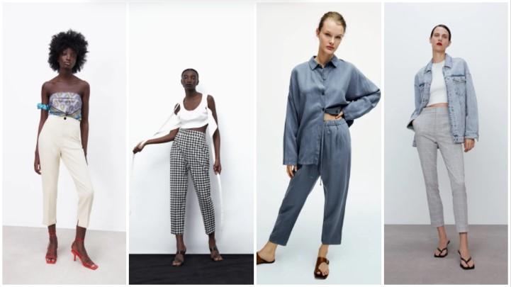 άσπρα μαύρα γκρι παντελόνια καλοκαιρινά ρούχα Zara 2021