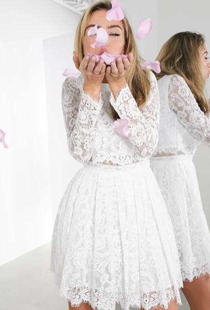 άσπρο φόρεμα δαντέλα