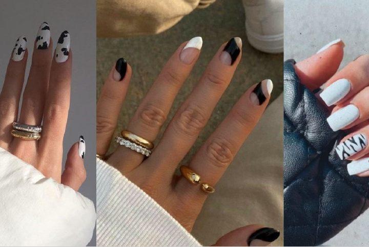 30 Υπέροχα ασπρόμαυρα μανικιούρ για τέλεια νύχια!