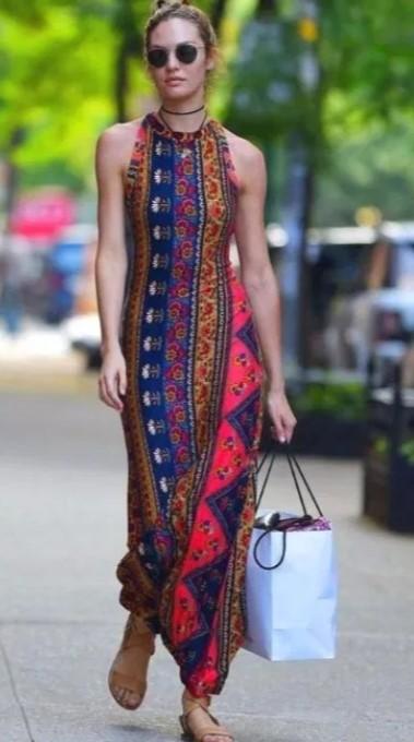 μακρύ φόρεμα boho ντύσιμο άνοιξη
