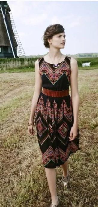 φόρεμα μίντι boho ντύσιμο άνοιξη