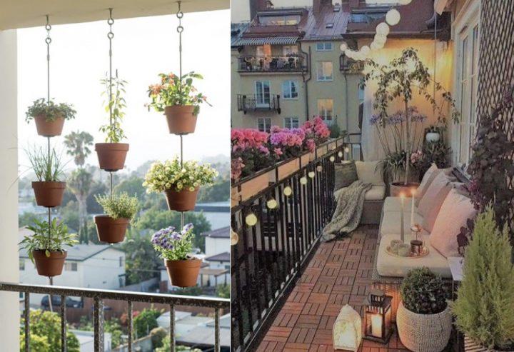 Ιδέες για να διακοσμήσεις με λουλούδια μικρό μπαλκόνι!