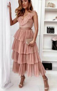 επίσημο μίντι φόρεμα