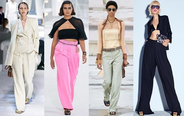 φαρδιά γυναικεία παντελόνια καλοκαίρι 2021