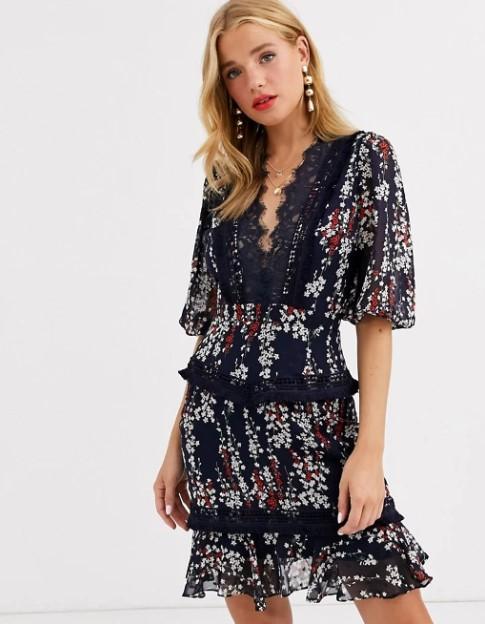 φλοράλ φόρεμα κοντό