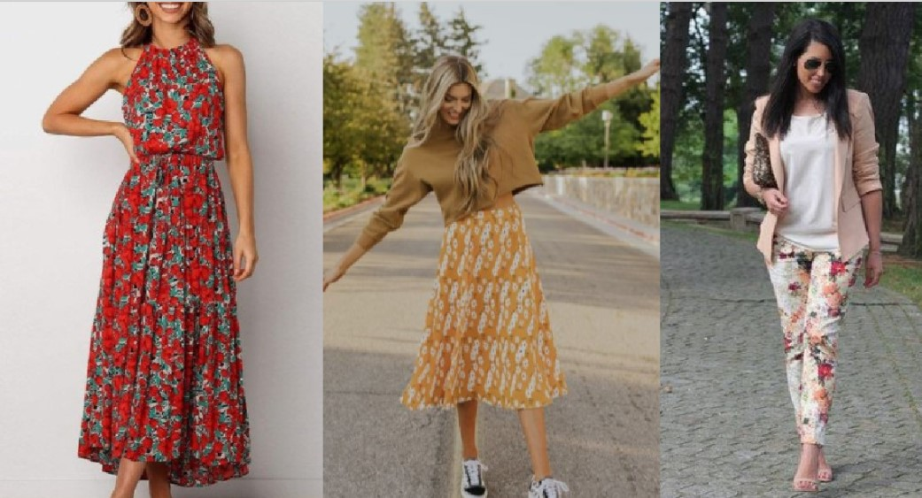 λουλουδένια φορέματα